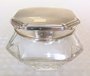 Art deco dressing powder bowl