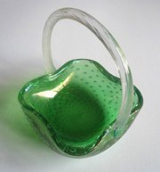 Green Bubble Glass Basket