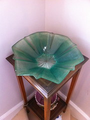 Art Deco Green Dish