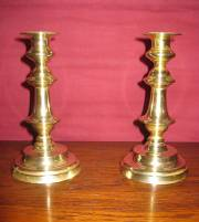 Early 19TH Brass Candle Sticks