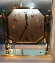 Art Deco Brass Ceiling Clock