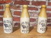 Stoneware Pictorial Bottles