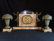 Antique French Marble Clock Ga