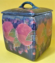 A Moorcroft biscuit barrel