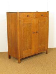Heals Arts  Crafts Oak Tallboy