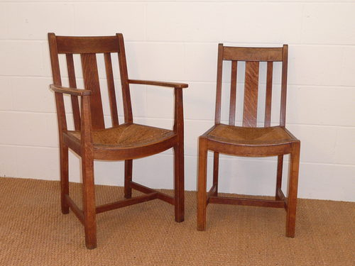 Set of 6 Heal's Russet Oak Dining Chairs