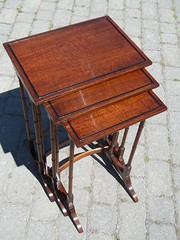 Antique nest 3 mahogany tables