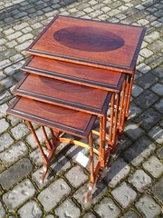 Antique nest of four mahogany