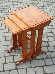 Antique satinwood nest tables