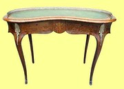 Kidney Shaped Antique Desk