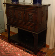 19th C Oak Court Cupboard