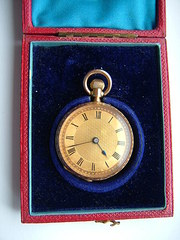 14ct gold swiss pocket watch amp
