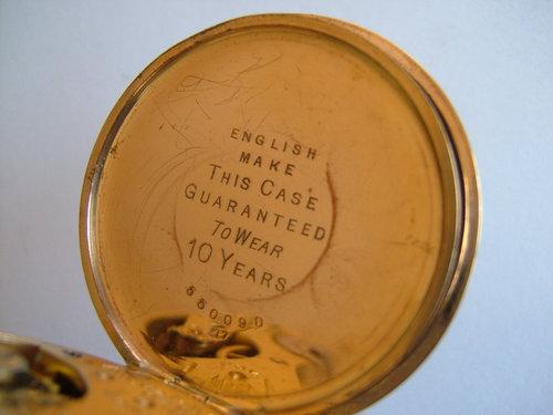 Gold Plated Waltham Pocket Watch C1897