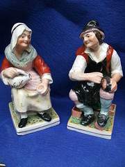 Large Pair Staffordshire figur