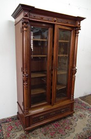French Two Door Walnut Cabinet