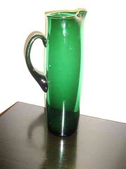 EARLY GREEN GLASS HAND MADE EU