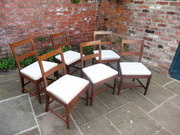 Six period dining room chairs