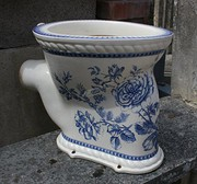 Antique Blue and white Toilet