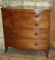 bowfront chest of drawers