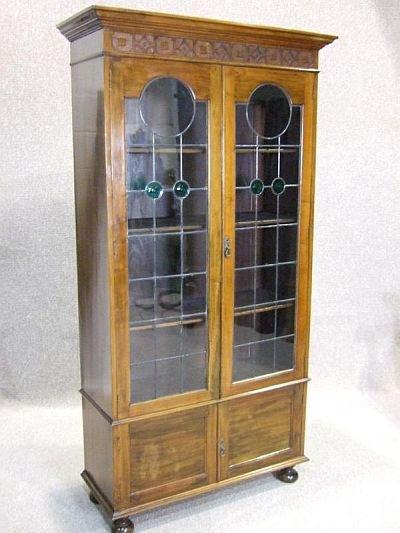 clip art bookcase. Antique Walnut Bookcase 04.