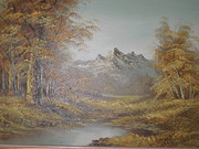 large edwardian oil painting