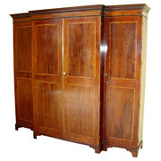 Georgian Mahogany Breakfront W