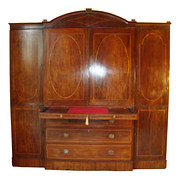 Regency Secretaire Linen Press
