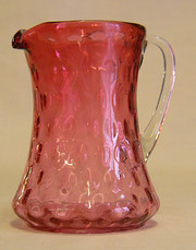 Antique Cranberry Glass Jug
