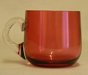 Victorian Cranberry Glass Cust