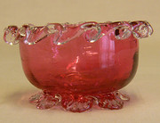 Victorian Cranberry Glass Salt