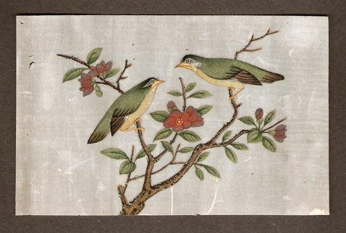 Japanese Rice Paper Painting - c1880's
