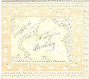 Victorian FretWork Birthday Ca