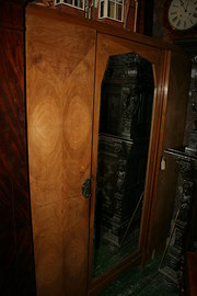 Art Deco Pale Walnut Wardrobe